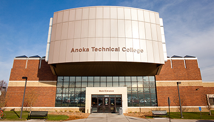 Image of Anoka Technical College building front