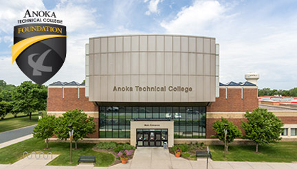 Anoka Tech campus and foundation logo