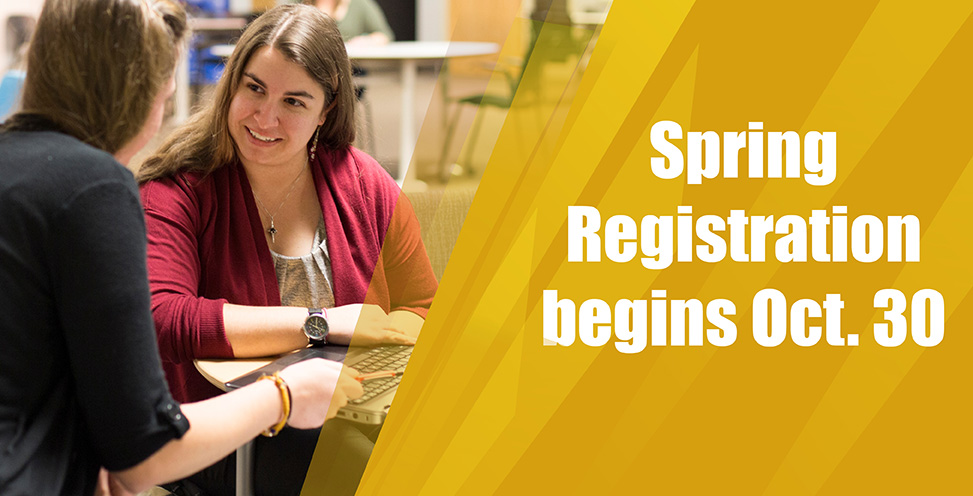 Spring registration begins Oct. 30